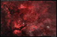 Sadr Region (NGC6914, IC1318, B343, NGC6888) bicolor - Ha/OIII